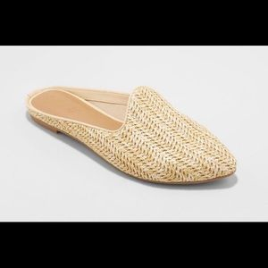 Women's Violet Woven Backless Mules
